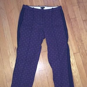 Wool fully lined cropped ankle pant